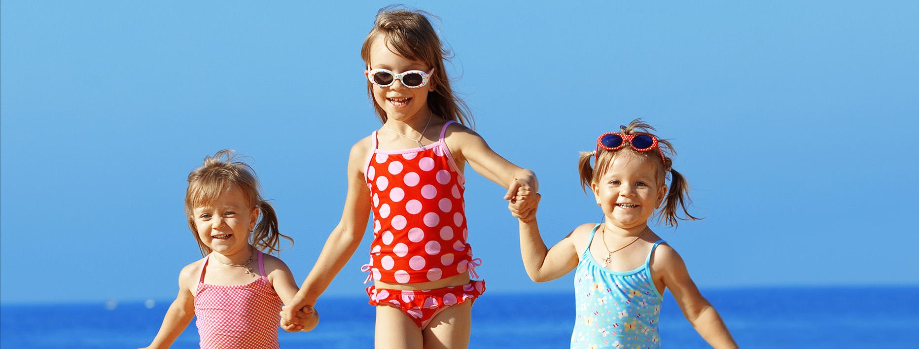 Kids on Salou beach